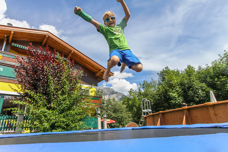 Action am Trampolin!